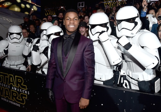 HOLLYWOOD, CA - DECEMBER 14: Actor John Boyega attends the World Premiere of ìStar Wars: The Force Awakensî at the Dolby, El Capitan, and TCL Theatres on December 14, 2015 in Hollywood, California. (Photo by Alberto E. Rodriguez/Getty Images for Disney)