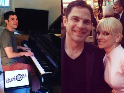 """Earworm playing the chorus to """"Drone"""", and with Anna Faris at the Critics Choice Television Awards. (Instagram)"""