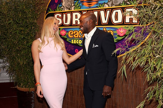 Kelley Wentworth with Jeremy Collins, Winner of SURVIVOR 31 on the Red Carpet at the Live Reunion Show, broadcast from Los Angeles, Wednesday, December 16th on the CBS Television Network. Photo: Monty Brinton/CBS ©2015 CBS Broadcasting, Inc. All Rights Reserved
