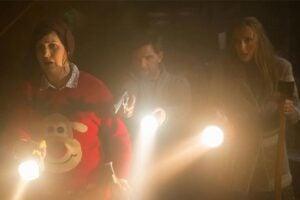 """Allison Tolman, Adam Scott and Toni Colette in """"Krampus"""""""
