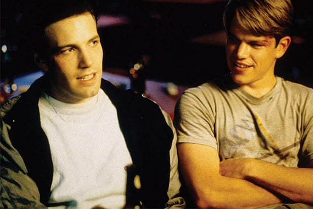 "Matt Damon, Ben Affleck in ""Good Will Hunting"" new england patriots super bowl 51"