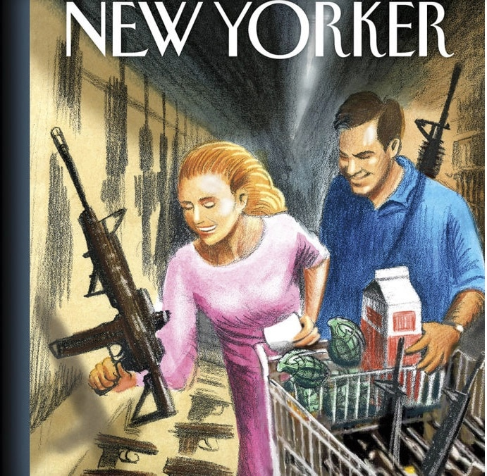 74 School Shootings Since Newtown: New Yorker's Alarming Cover Of Guns And Groceries