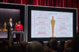 Chris Pine and Cheryl Boone Isaacs announcing Oscars nominations