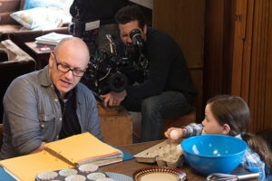 On the set with Jacob Tremblay, director Lenny Abrahamsson used fairy-tale scenarios to get reactions from the young actor without exposing him to the darkest sides of the film's story.