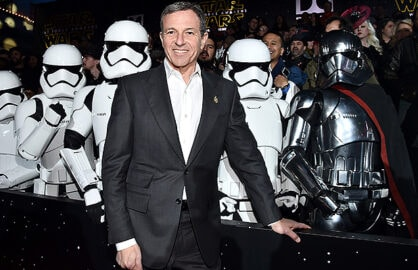 "HOLLYWOOD, CA - DECEMBER 14: Chairman and CEO, The Walt Disney Company, Bob Iger attends the World Premiere of ""Star Wars: The Force Awakens"" at the Dolby, El Capitan, and TCL Theatres on December 14, 2015 in Hollywood, California. (Photo by Alberto E. Rodriguez/Getty Images for Disney)"