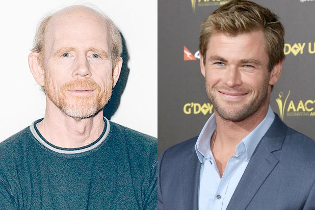 Ron Howard, Chris Hemsworth