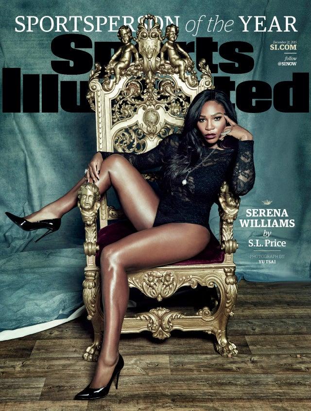 Serena williams takes throne as sports illustrated 2015 sportsperson