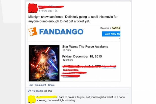 Star Wars Fan Fail Fandango Ticket