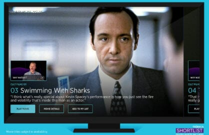 Tribeca Shortlist on an Amazon Fire TV