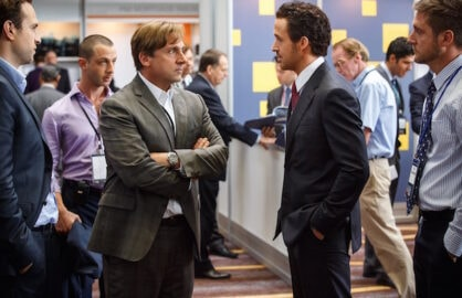 Steve Carell and Ryan Gosling in The Big Short