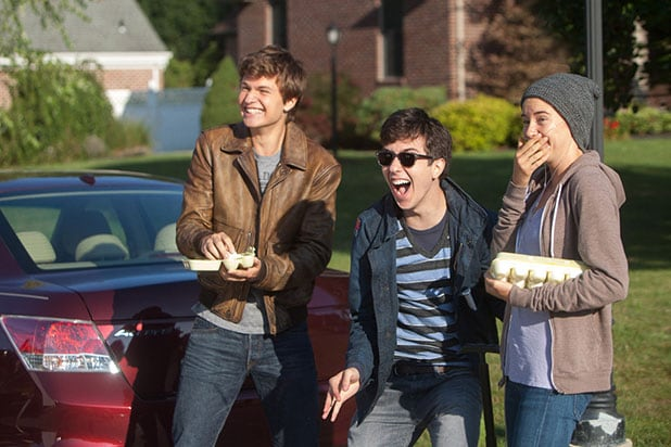 "Ansel Elgort, Nat Wolff in ""The Fault in Our Stars"""