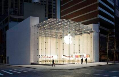 Apple's New York store on the Upper West Side