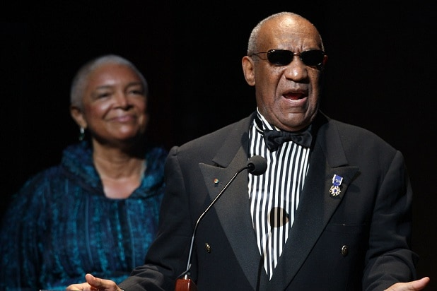 NEW YORK - JUNE 08: Bill Cosby and his wife Camille Cosby speak onstage at the Apollo Theater 75th Anniversary Gala at The Apollo Theater on June 8, 2009 in New York City. (Photo by Bryan Bedder/Getty Images)