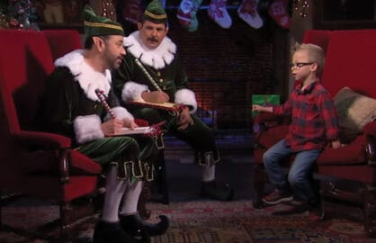 Jimmy Kimmel Interviews Kid on Naughty or Nice Segment