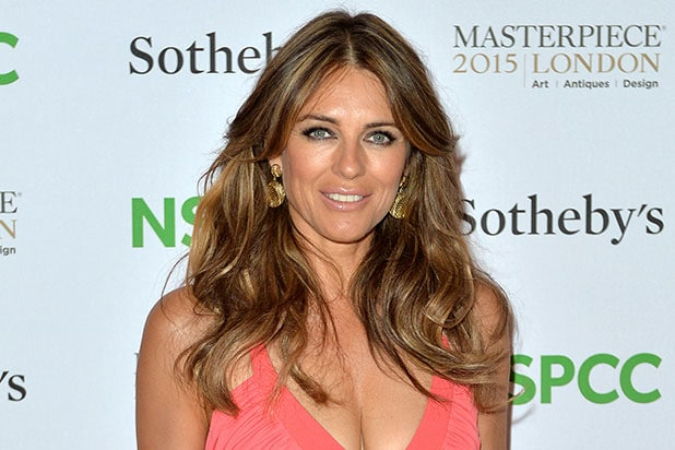 cafae67f3698b Elizabeth Hurley Gives Gift of Cleavage on Christmas Card