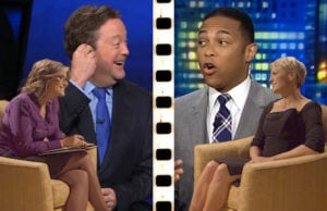 "(Clockwise) Don Lemon, Robin Wright and Ashleigh Banfield on ""House of Cards,"" Sam Rubin"