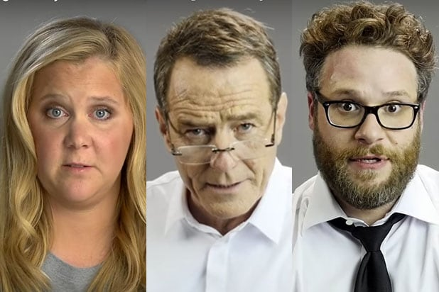 Amy Schumer, Bryan Cranston, Seth Rogen Dramatically Read ...