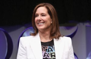 "Kathleen Kennedy Delivers Emotional Speech During ""Force Awakens"" Premiere"