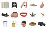 A screenshot of Kim Kardashian custom emoji
