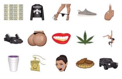 A screenshot of Kim Kardashian custom emoji