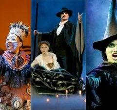 Lion King, Phantom of the Opera, Wicked broadway