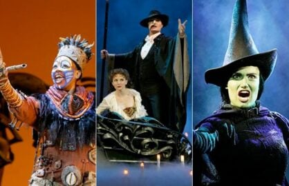 Lion King, Phantom of the Opera, Wicked