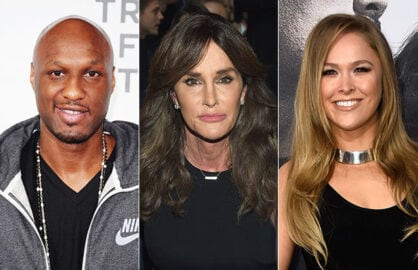 Lamar Odom, Caitlyn Jenner and Ronda Rousey