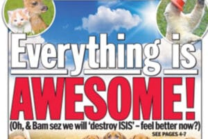 NY Daily News Cover 'Everything is Awesome'