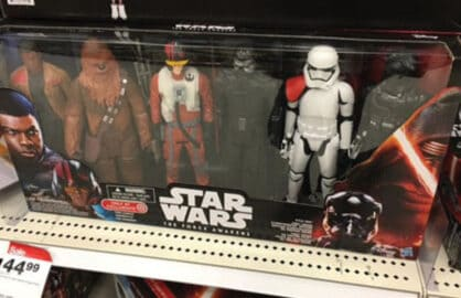 Star Wars action figure box missing Rey