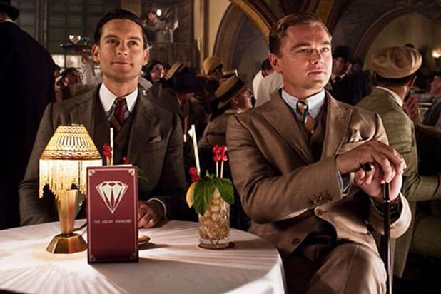 "Leonardo DiCaprio and Tobey Maguire in ""The Great Gatsby"""