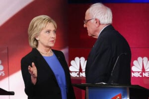 Hillary Clinton Bernie Sanders feud establishment
