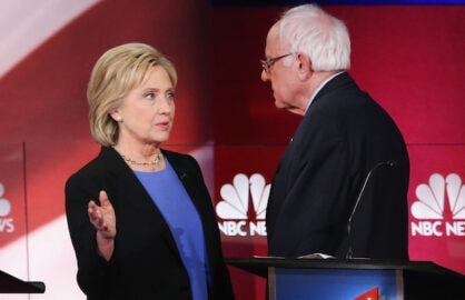 Clinton Sanders feud establishment