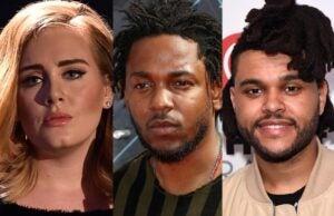 Adele Kendrick Lamar The Weeknd
