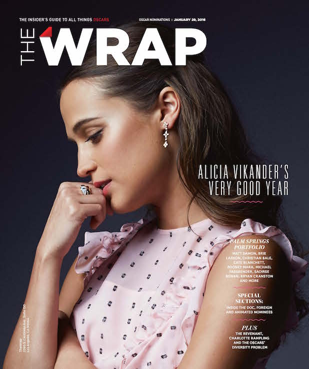 Alicia Vikander Wrap magazine cover