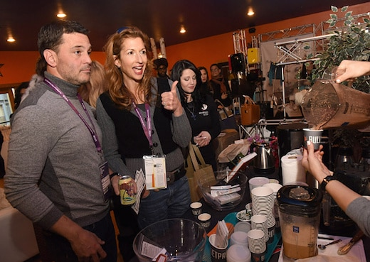 PARK CITY, UT - JANUARY 23: Actor David Alan Basche and actress Alysia Reiner attend the EcoLuxe Lounge at Sundance16 on January 23, 2016 in Park City, Utah. (Photo by Vivien Killilea/Getty Images for EcoLuxe)