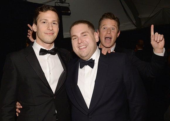 Andy Samberg Jonah Hill Weinstein Company Netflix Golden Globe Awards Party