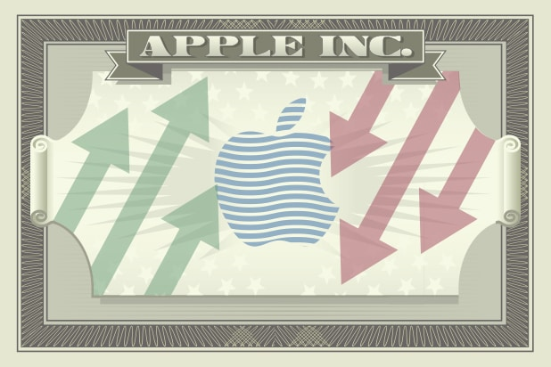 Apple's logo on the iconography of a dollar bill