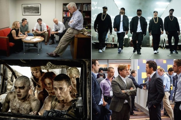 Spotlight, Straight Outta Compton, Mad Max: Fury Road and The Big Short