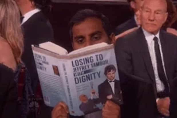 Aziz Ansari reaction at the Golden Globes