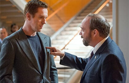"Billions paul giamatti damien lewis on the Showtime program ""Billions"""