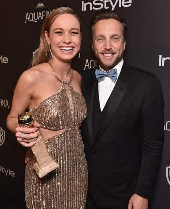 Brie Larson Ariel Foxman InStyle and Warner Bros Golden Globe Awards Party