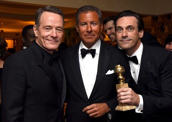 Bryan Cranston Richard Plepler Jon Hamm HBO Golden Globe Awards Party