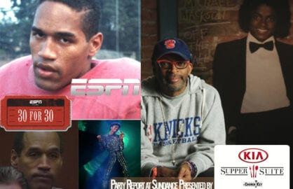 "ESPN's 7 hour miniseries on OJ Simpson and Showtime's Spike Lee-directed doc on ""Off the Wall"" era Michael Jackson will both celebrate at the Kia Supper Suite at Sundance, amongst others. (Photos courtesy of Sundance Film Festival Film Guide)"