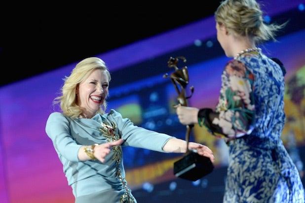 Cate Blanchett and Saoirse Ronan