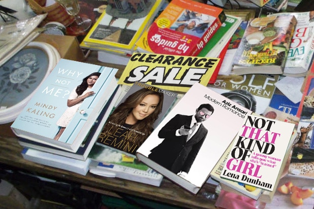 celebrity book sales down