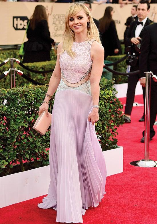 Christina Ricci arrives at SAG Awards