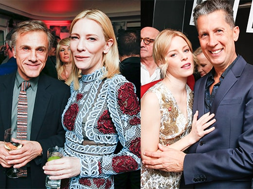 Christophe Waltz and Cate Blanchett are frontrunners in the best cheekbones contest, as Elizabeth Banks and W Editor-in-Chief Stefano Tonchi were one of many pairs going hands-on. (BFA Agency for Dom Perignon).