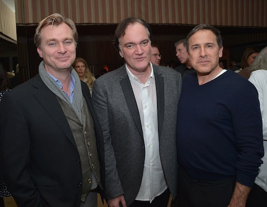 WEST HOLLYWOOD, CA - JANUARY 04: (L-R) Christopher Nolan, Quentin Tarantino and David O. Russell attend THE HATEFUL EIGHT Celebration With Quentin Tarantino And Filmmakers at Sunset Tower Hotel on January 4, 2016 in West Hollywood, California. (Photo by Charley Gallay/Getty Images for The Weinstein Company)