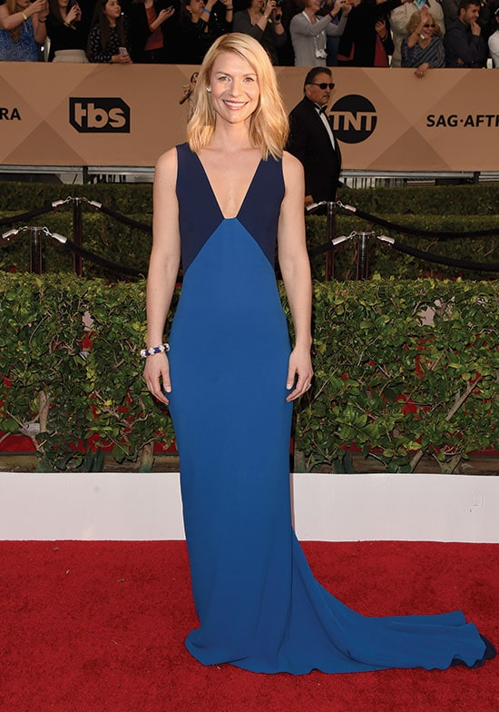 Claire Danes arrives at the SAG Awards