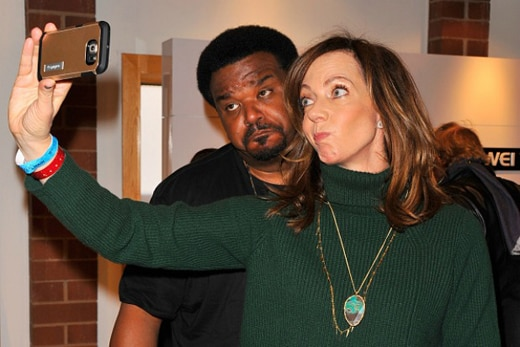 PARK CITY, UT - JANUARY 23: Craig Robinson and Allison Janney attends Kari Feinstein's Style Lounge on January 23, 2016 in Park City, Utah. (Photo by Lily Lawrence/Getty Images for Kari Feinstein)